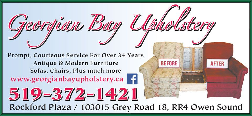 Georgian Bay Upholstery Upholsterers Owen Sound Home
